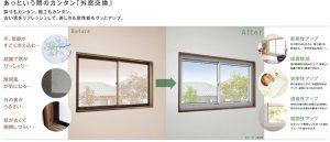 内窓の設置で窓の断熱リフォーム