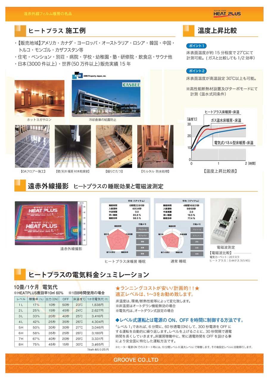 床暖房シート ジーとプラス施工事例