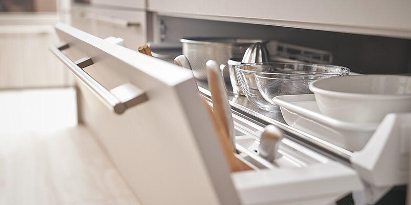 楽々収納のキッチン