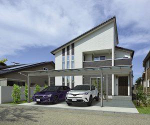 車2台+駐輪スペース対応のカーポート屋根