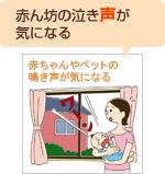 赤ん坊の泣き声が気になる!解決します内窓のリフォーム
