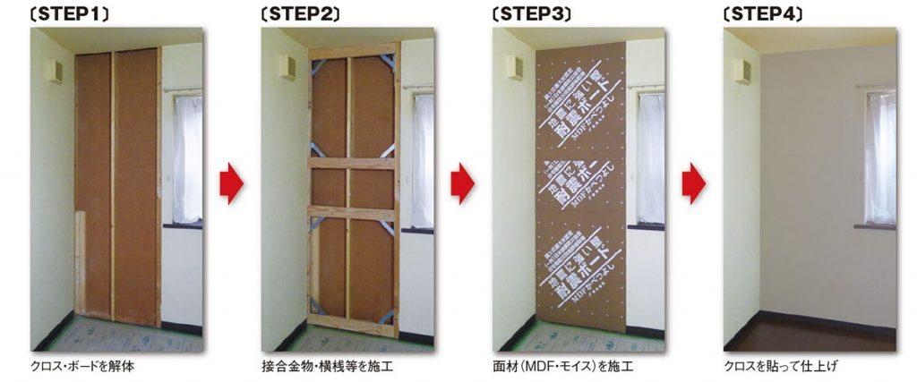 壁の耐震補強事例写真