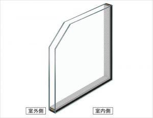 一般的なペアガラスで断熱効果抜群