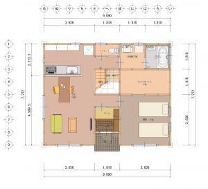 夢ハウスの「木のひらや」1階平面図 所沢市の彩建コーポレーション
