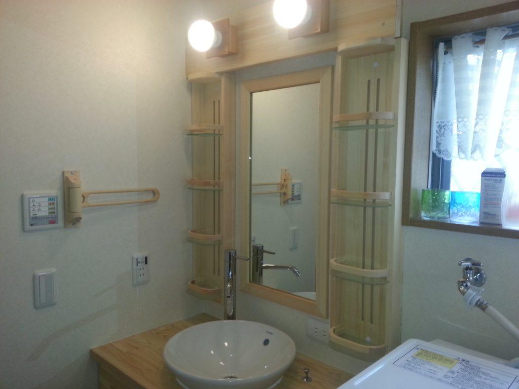 造作洗面化粧台で洗面交換リフォーム 所沢市事例写真