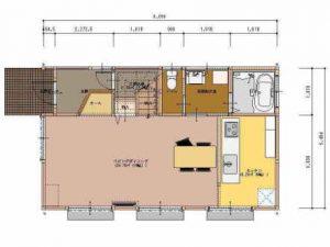 夢ハウス郷の家1階平面図 所沢市の彩建コーポレーション