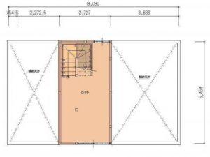 夢ハウスの郷の家ロフト平面図 所沢市の彩建コーポレーション