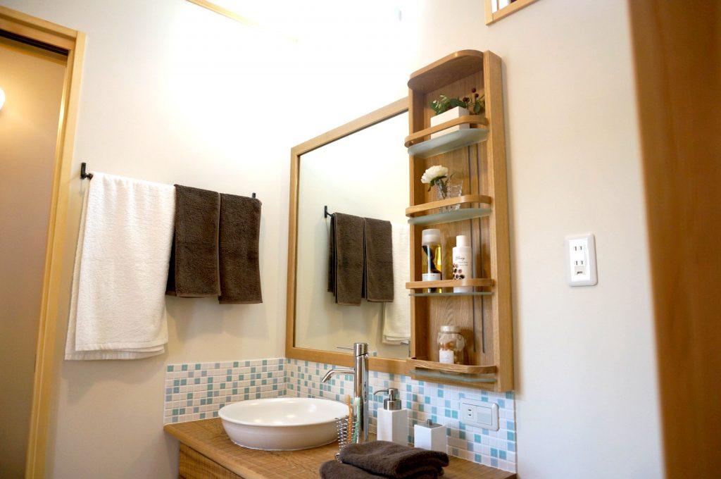 造作洗面化粧台注文住宅入間市事例写真