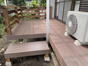お庭にガーデンスペースのデッキー埼玉県所沢市事例